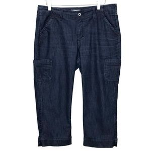 Lee Riders Cuff Capris 6-Pocket Jeans Dark Wash 14